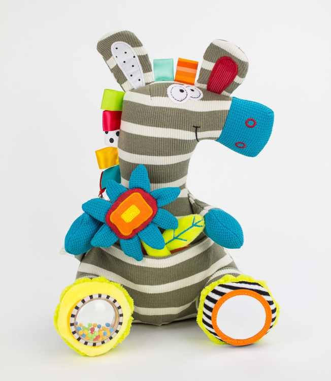 Dolce Activity Zebra Interactive Stuffed Animal Plush Toy