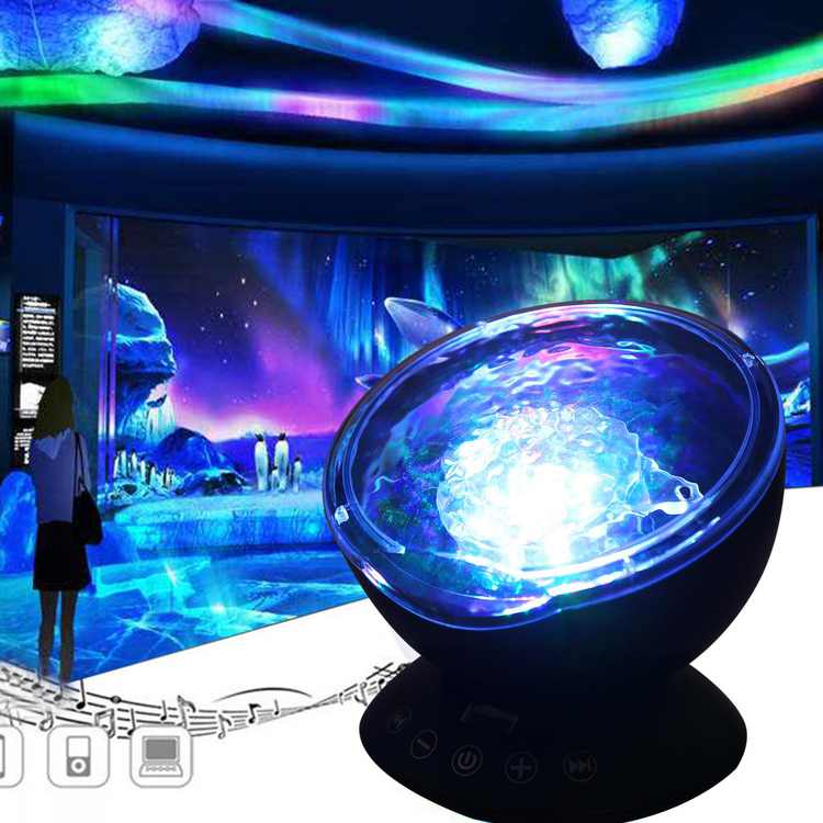 Tbest Ocean Wave Projector LED Night Light Lamp With Remote Control For Kids Gift,Light Projector, Music Project Light