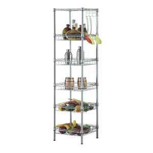Ktaxon 6 Tier Storage Shelves, Adjustable Storage Shelves
