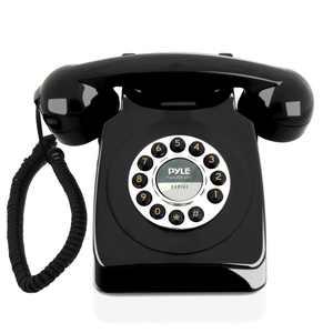 PYLE PPRETRO25BK - Vintage / Classic Style Corded Phone - Retro Design Landline Telephone