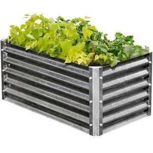 EarthMark MGB-H042 Alto Series 22 x 40 x 17 in. Rectangle Galvanized Metal Raised Garden Bed