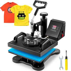 BestEquip 12X10 Inch Heat Press Dual Digital Heat Press Machine Swing Away Transfer 360 Degree Rotation