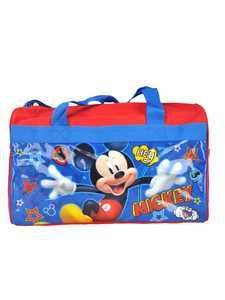"Disney Mickey Mouse Boys Girls Kids Duffel Bag 17"" Red Blue"
