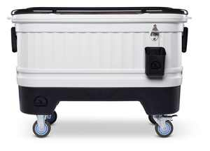 Igloo 125-Quart Party Bar Ice Cooler with Wheels - Gray and Black
