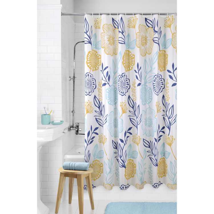 "Mainstays Floral PEVA Shower Curtain, 72"" x 72"""