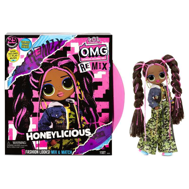 LOL Surprise OMG Remix Honeylicious Fashion Doll - 25 Surprises with Music Age 5+