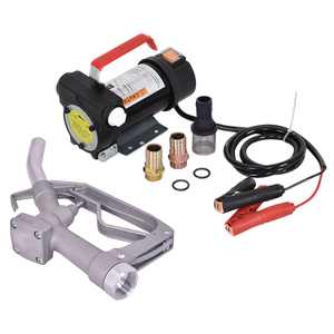 Goplus 12V 10GPM Electric Diesel And Transfer Extractor Pump w/ Nozzle & Hose