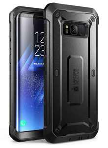 Samsung Galaxy S8 Case, SUPCASE Full-body Rugged Holster Case with Built-in Screen Protector for Galaxy S8 (2017 Release), Not Fit Galaxy S8 Plus, Unicorn Beetle Shield Series (Black)