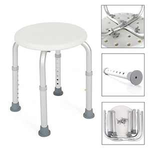 Ktaxon Adjustable Lightweight Bath Shower Chair Stool Seat w/ Anti-Slip Rubber