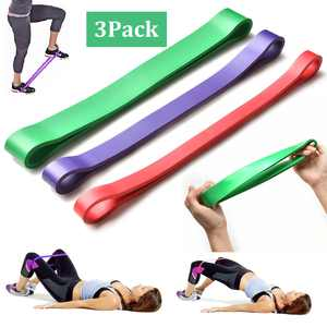 3Pcs Resistance Bands, Elastic and Durable Exercise Bands for Leg/Arm Training, Fitness, Yoga at Gym, Home