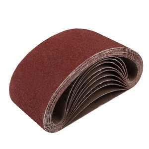 3x18 Inch Sanding Belts 60 Grit Aluminum Oxide Sanding Belt Sandpaper for Portable Belt Sander 10 Pcs