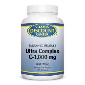 Ultra Complex C-1000mg by Vitamin Discount Center 100 Tablets Vitamin C