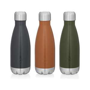 Ozark Trail 12oz Vacuum Insulated Stainless Steel Water Bottle, Set of 3 - greystone/orange crush/sea turtle