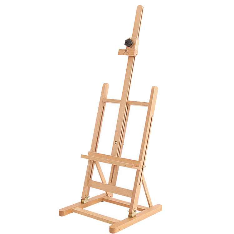 Zimtown Folding Portable Table Top Beechwood Easel Stand for Studio Painting Display, for Artist Drawing Sketching, 32inch to 46inch Height Adjustable