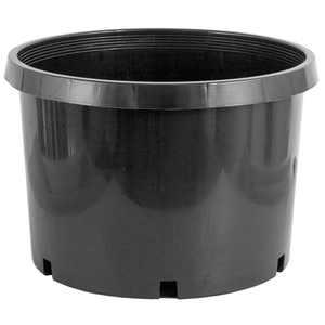 Pro Cal 10 Gallon Premium Nursery Black Plastic Planter Garden Grow Pots, 5 Pack