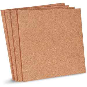 4-Pack Natural Cork Tile Boards - 12 X 12 inch Frameless Mini Wall Bulletin Boards