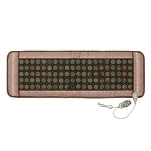 """Far Infrared Heating Pad - Natural  Electric Mat Therapy Jade Heating Pad for Chronic Back Pain Relief - Large(59"""" X 20""""), Smart Controller, Adjustable Temp and Travel Bag Included"""