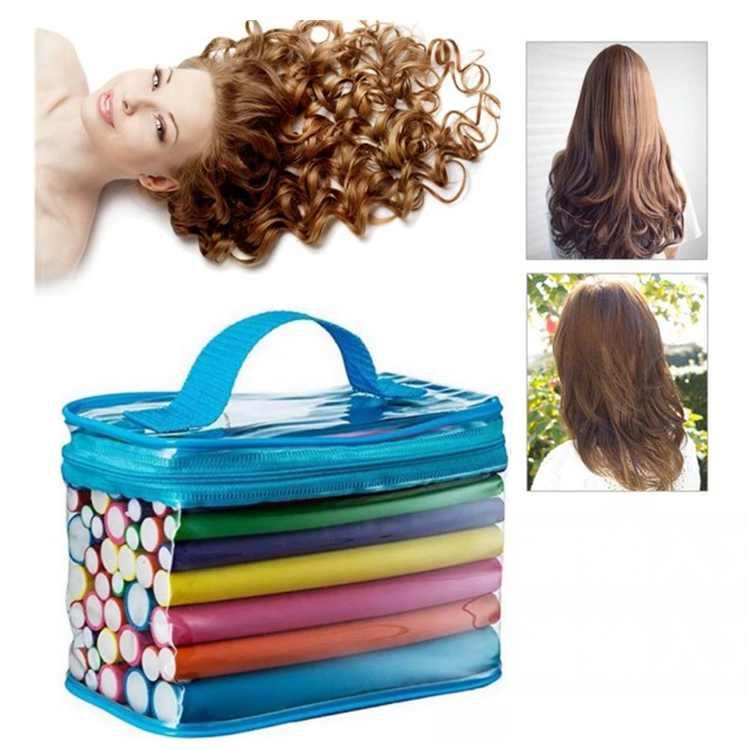 42Pcs Twist Flexible Curling Rods Foam Hair Curlers Rollers DIY Hair Styling Tool for Short, Medium, Long Hair
