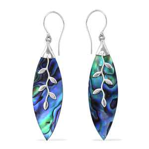 BALI LEGACY 925 Sterling Silver Abalone Shell Dangle Drop Earrings Stylish Fashion Jewelry for Women Graduation Gifts for Her Gifts