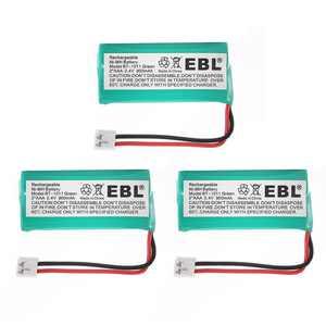 EBL 3-Pack 2.4V 900mAh Replacement Battery for BT-1011 BT-1018 BT-6010 BT-184342 BT-28433 BT-284342 BT-8000 CS6219 DS6111 Home Cordless Phone Batteries
