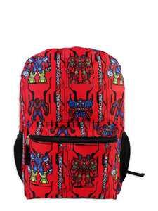 Marvel Spider-Man Mech Strike All over Print Boys' Red Backpack