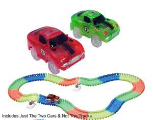 Magic Twister Glow In the Dark Car Race Track - Race Car Vehicles 2pc Set