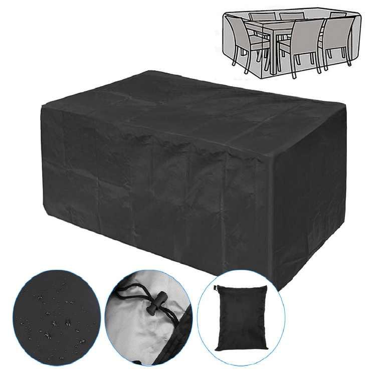 Patio Furniture Cover, 67x37x28inch, 210D Rectangular Patio Table Cover, Patio Table and Chair Covers, UV Resistant, Durable Waterproof Dustproof Outdoor Cover for Garden