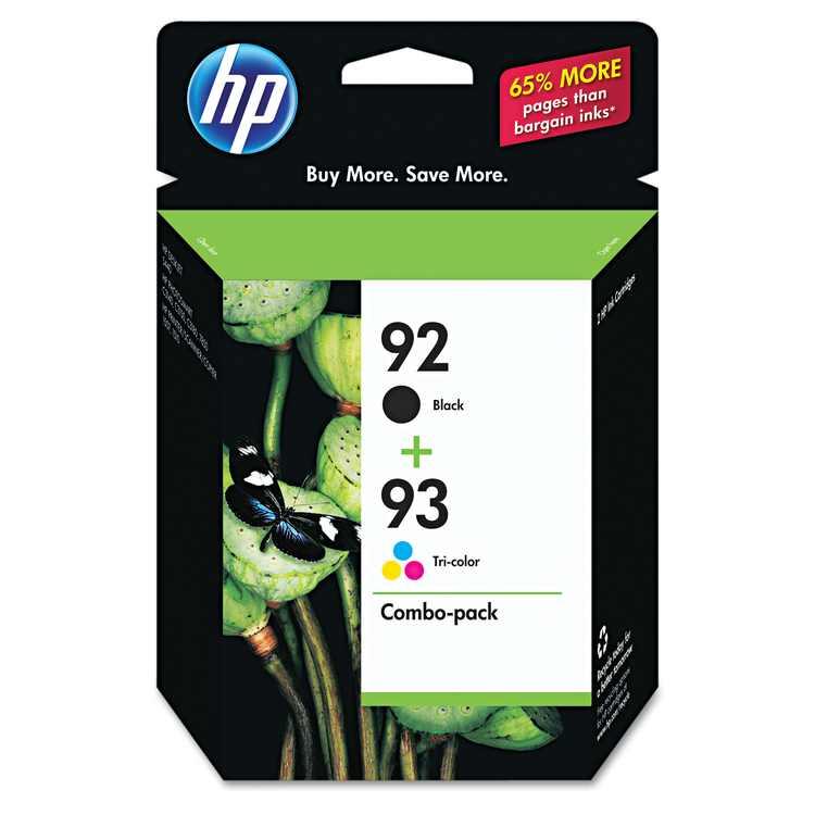 HP 92/93 Ink Cartridges - Black, Tri-color, 2 Cartridges (C9513FN)