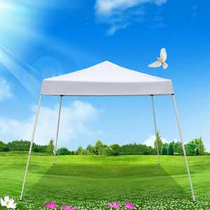 Zimtown 10' x 10' Pop Up Canopies Tent W/ Carrying Bag White