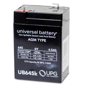 UPG UB645 6V 4.5Ah F1 AGM Battery for Fire & Security Panels Emergency Lights Deer Game Feeder MOJO Duck Peg Perego