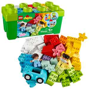 LEGO DUPLO Classic Brick Box 10913, Great Educational Toy for Toddlers 18 Months and up (65 Pieces)