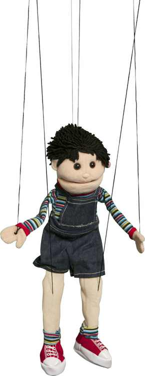 Sunny Toys WB1562 22 In. Hispanic Boy, Marionette People Puppet