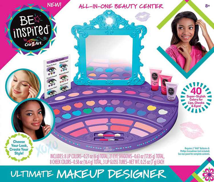 Cra-Z-Art Be Inspired Ultimate Makeup Designer, All-in-One Beauty Center