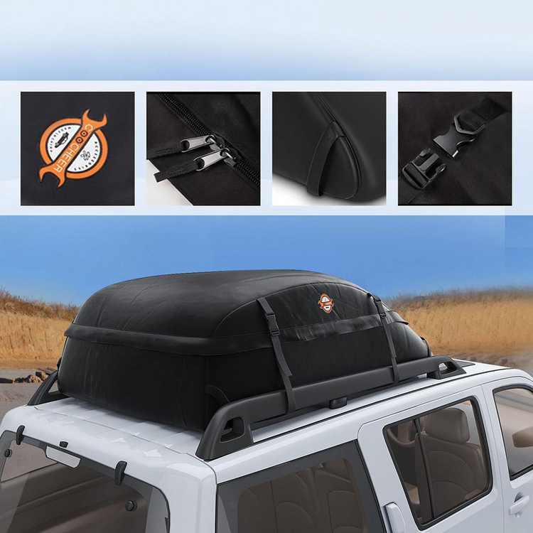 Car Vehicles Waterproof Roof Top Cargo Carrier Luggage Travel Storage Bag HFON
