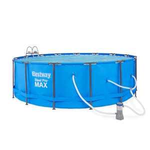 "Bestway Steel Pro Max Swimming Pool Set with 1,000 GPH Filter Pump, 15 x 48"""