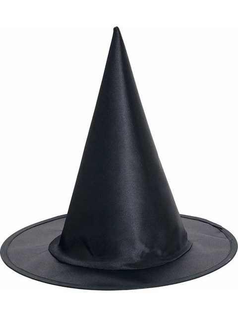 Child Black Satin Witch Hat