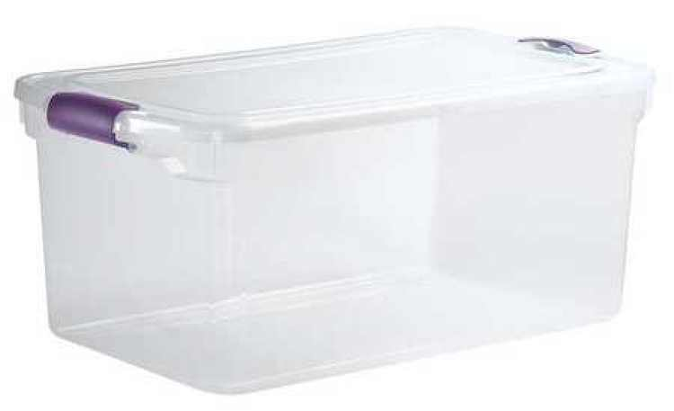 Zoro Select Storage Tote,Polypropylene,Clear,64 qt. 3441GRPRCL.06