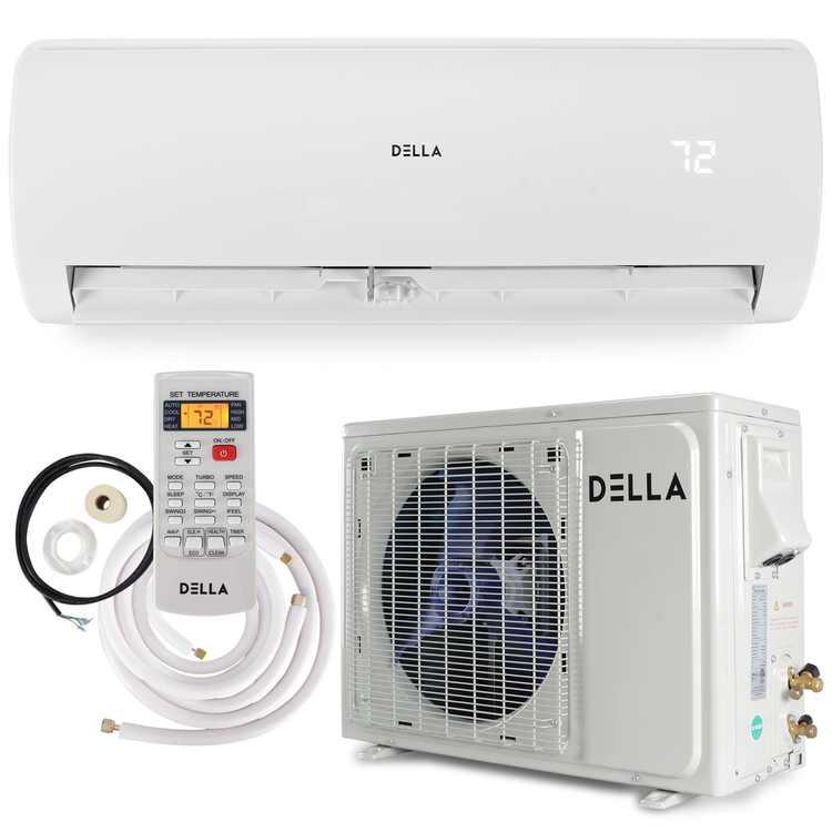 DELLA 12000 BTU Mini Split Air Conditioner Ductless Inverter System 17 SEER 115V with 1 Ton Heat Pump Full Installation