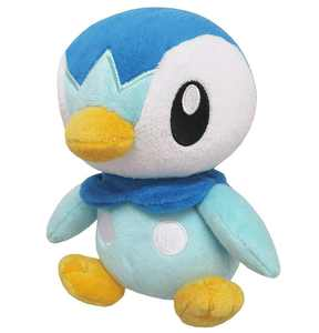 Sanei Pokemon All Star Collection-PP89-Piplup Stuffed Plush, 6
