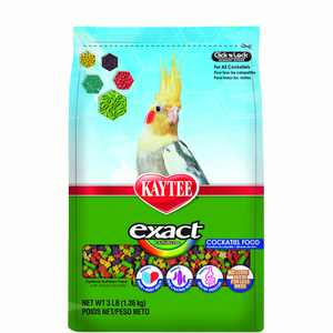 Kaytee Exact Rainbow Cockatiel Food, 3Ib