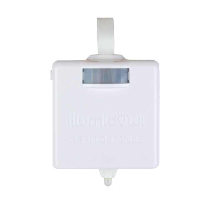 Illumibowl Germ Defense LED Motion-Sensing Toilet Night Light, 8 Light Colors (As Seen on Shark Tank)