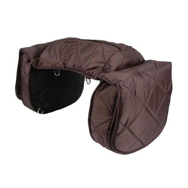 Jacks Imports 34-BR Large Quilted Cooler Saddle Bag, Brown