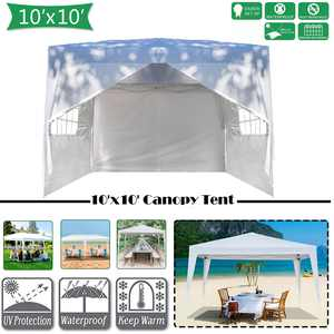 Zimtown 10' x10' Ez Pop Up Wedding Party Tent  W/ Carry Bag White