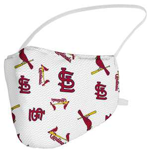 St. Louis Cardinals Fanatics Branded Adult All Over Logo Face Covering