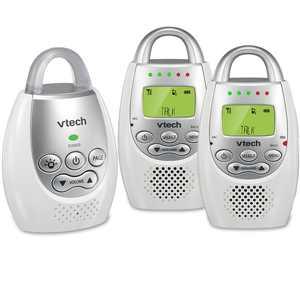 VTech DM221-2 Safe & Sound  DECT 6.0 Two Parent Unit Digital Audio Baby Monitor