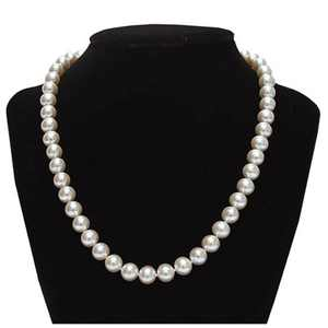 Genuine 8.5-9mm Freshwater Cultured Pearl Necklace in Sterling Silver