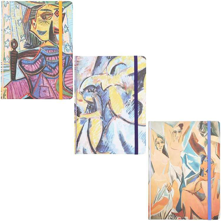 3-Pack Pablo Picasso Hard Cover Diary Journals Notebooks, 160 Lined Pages each (7x5 inches)