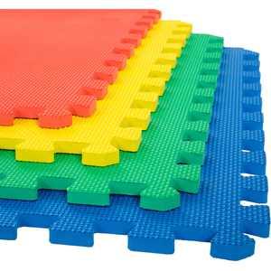 Foam Mat Floor Tiles, Interlocking EVA Foam Padding by Stalwart Soft Flooring for Exercising, Yoga, Camping, Kids, Babies, Playroom - 4 Pack