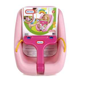 Little Tikes 2-in-1 Snug 'n Secure Swing, Pink - Kids Outdoor Backyard Swing