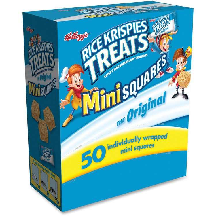 Rice Krispies Treats, KEB12346, Mini Squares, 50 / Box